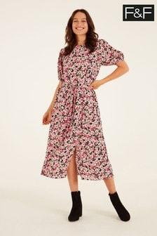 F&F Romantic Floral Midi Dress