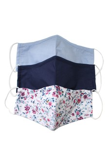 Multi Chester Barrie Gingham Face Coverings Three Pack