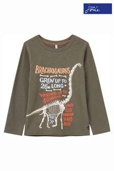 Joules Green Raymond Glow In The Dark Screenprint T-Shirt