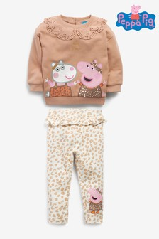 Brown Animal Peppa Pig Collar Co-ord Set (3mths-7yrs)