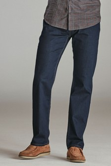 Dark Ink Loose Fit Jeans With Stretch