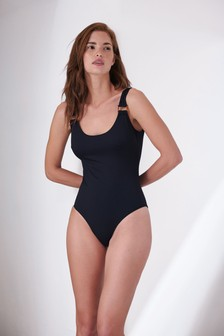 Black Scoop Back Swimsuit