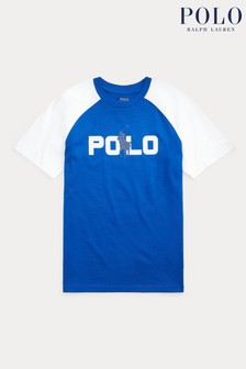 Ralph Lauren Blue Polo Graphic T-Shirt