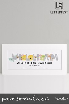 Personalised Unframed Name Baby Print by Letterfest