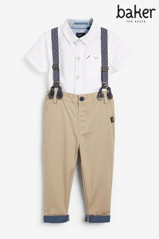 Baker by Ted Baker Boys Shirt And Chino Brace Set