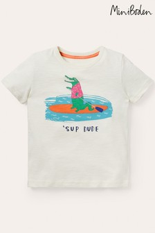 Boden Ivory Graphic T-Shirt