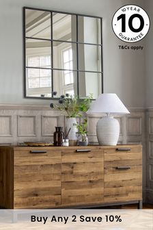 Oak Effect Bronx Large Sideboard