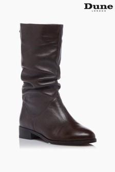 Dune London Rosalindas Ruched Calf Boots