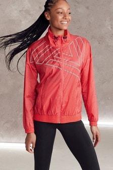 Coral Zip Through Running Jacket