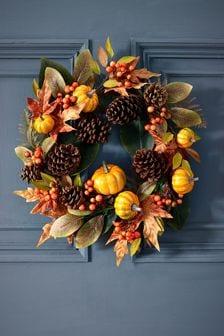 Autumnal Pumpkin Wreath