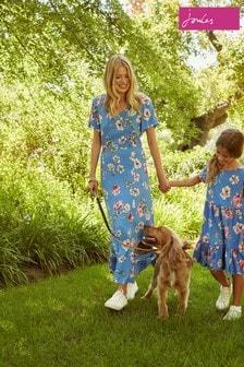 Joules Blue Alianna V-Neck Dress