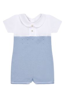 Baby Boys Blue Cotton Shortie