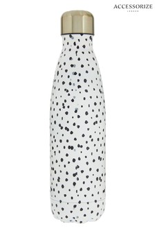 Accessorize Black Spotty Metal Double Walled Water Bottle