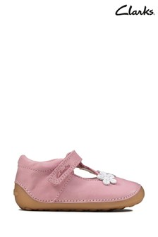 Clarks Pink Tiny Sun T Shoes