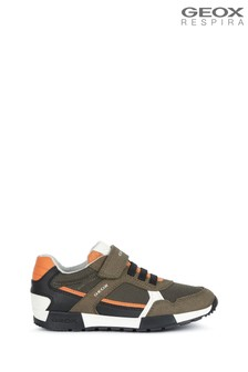 Geox Green Junior Boy's Alfier Military Shoes