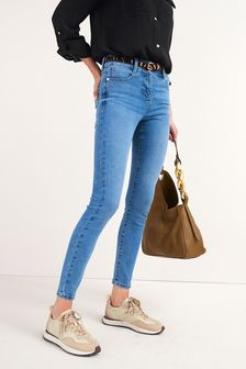 Animal Print Skinny Jeans Belt