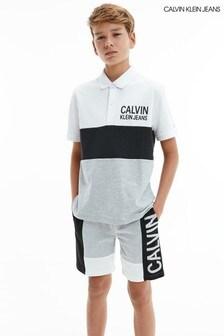 Calvin Klein Jeans Grey Colourblock Jogger Shorts