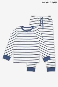 Polarn O Pyret Blue GOTS Organic Stripe Pyjamas