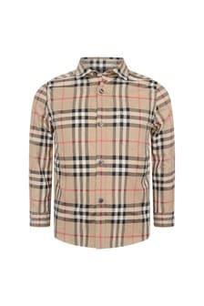 Camel Boys Beige Vintage Check Frederick Shirt
