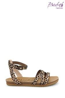 Blowfish Leopard Maylie Multy Strap Footbed Sandals