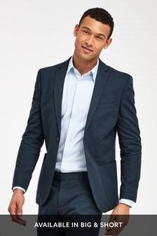 Navy Jacket Cotton Slim Fit Suit