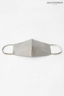 Accessorize Silver Sparkle Face Covering In Pure Cotton