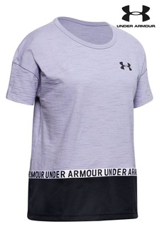 Under Armour Purple Cotton T-Shirt