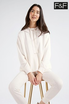 F&F Cream Modal Ribbon Sweat Top
