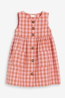 Coral Check Dress (3mths-7yrs)