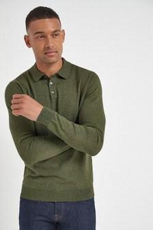 Khaki Knitted Polo