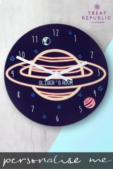 Personalised Planet Wall Clock by Treat Republic