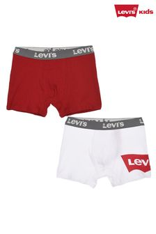 Levi's® White/Red Batwing Boxers Two Pack