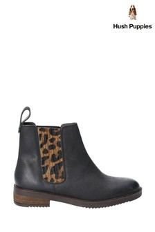 Hush Puppies Black Stella Ankle Boots