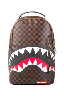 Sleek Brown Sharks In Paris Backpack