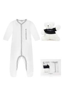 White Cotton Babygrow Two Piece Gift Set