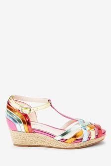 Rainbow Wedge Sandals