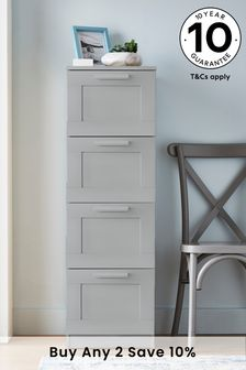 Grey Flynn 4 Drawer Tall Chest