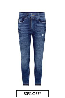 Calvin Klein Jeans Boys Blue Cotton Jeans