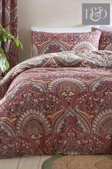 Palais Damask Duvet Cover and Pillowcase Set by D&D