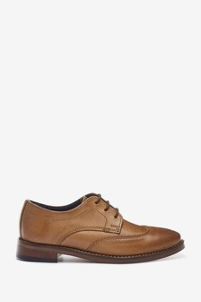 Tan Formal Leather Lace-Up Shoes (Older)