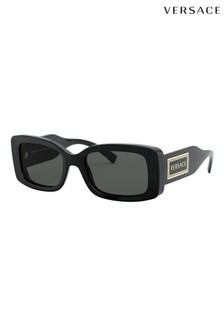 Versace Black Rectangle Sunglasses
