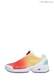 Tommy Hilfiger Pink Heritage Rainbow Degrade Trainers