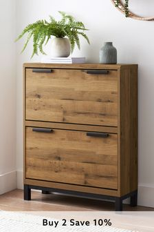 Oak Effect Bronx Compact Shoe Storage