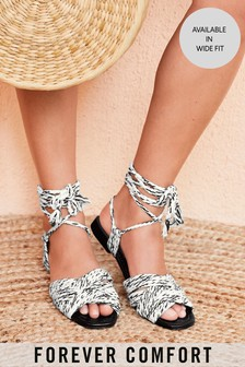 Monochrome Rope Sandals