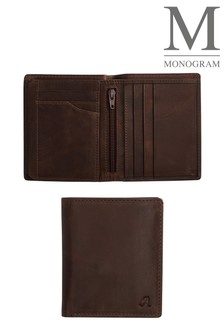 Brown Monogram Leather Extra Capacity Wallet