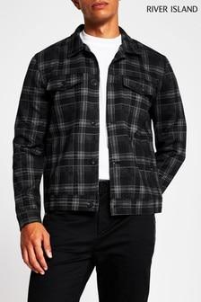 River Island Grey Check Western Jacket