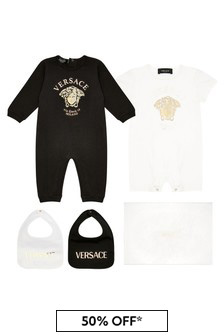 Baby White Cotton Unisex Gift Set