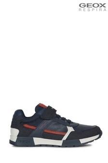 Geox Junior Boy/Unisex Alfier Navy/Dark Red Trainers