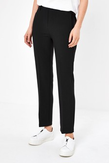 Black Elastic Back Skinny Trousers