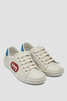 Kids Cream Trainers